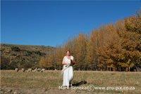 Bride at Ganora Guestfarm Nieu Bethesda