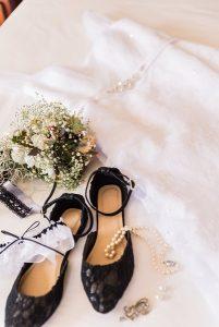Wedding shoes at Ganora Guestfarm Nieu Bethesda