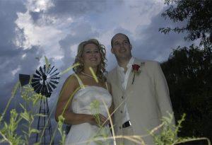 Bride and Groom at Ganora Guestfarm Nieu Bethesda