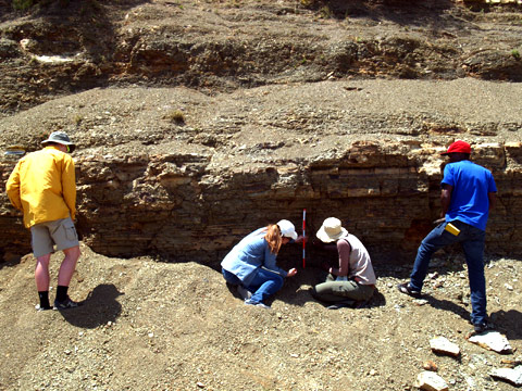 Researching End of Permian Period at Ganora Guestfarm Nieu Bethesda
