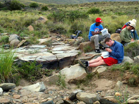 Researching End of Permian Period at Ganora Guestfarm