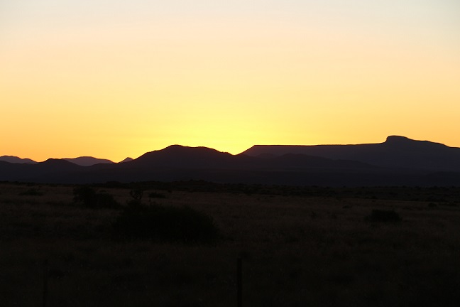 Sunset at Ganora Guestfarm, Nieu Bethesda