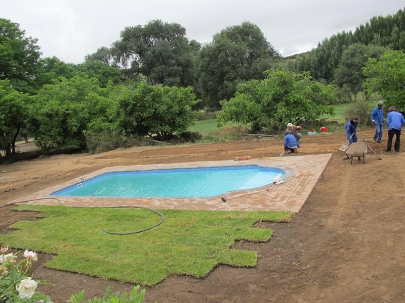 Swimming Pool at Ganora Guestfarm, Nieu Bethesda