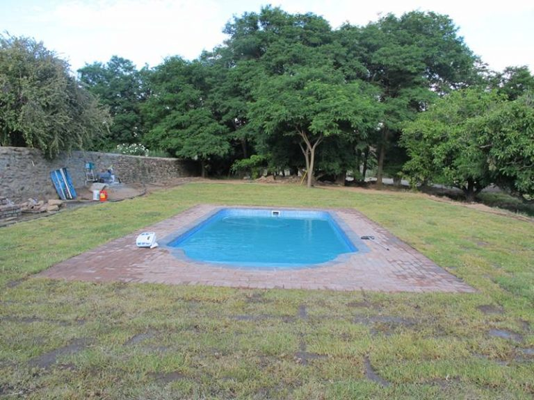 Newly layed grass around Swimming Pool